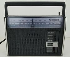 Vintage Panasonic 2 Band Receiver AC-Battery AM FM Portable Radio Model RF-537