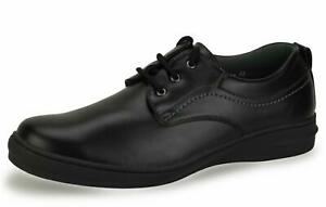 New Mens Black Wide Fitting Lightweight Comfortable Smart Shoes 5 6 7 8 9 10 11