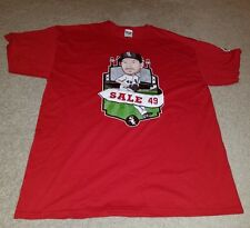 New Chicago White Sox Chris Sale Caricature Red T-Shirt Size XL