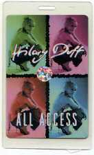Hilary Duff All Access Backstage Laminated Pass Hologram Concert Tour