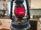 Vintage Original LITTLE WIZARD DIETZ Red Glass Lantern No. 1 Hong Kong