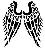 Tribal Vinyl Decal - Angel Wings Bumper Sticker - Window Decal  Outdoors Sticker