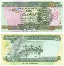 Solomon Islands 2 Dollars 2004 (2011) P-25 Banknotes UNC