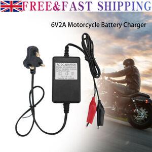 6v 5-10Ah Toy Car Volt Sealed Lead Acid Battery Charger for Motorbike Durable UK