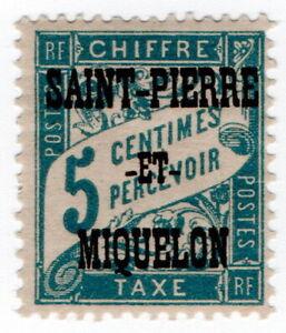 (I.B) France Colonial Postal : Postage Due 5c (Saint Pierre et Miquelon)