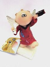 Angel Cheeks Graduation Red Gown figurine Russ Berrie tag free gift bag new