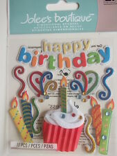 JOLEE'S BOUTIQUE STICKERS - HAPPY BIRTHDAY with cupcake and candles