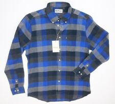 NEW BARBOUR ATLANTIC BLUE FLANNEL COUNTRY CHECKS BUTTON DOWN SHIRT