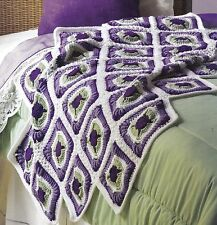 GORGEOUS Violet Vision Afghan/Crochet Pattern INSTRUCTIONS ONLY