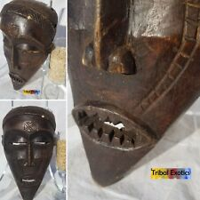 AUTHENTIC Tchokwe Chokwe Mask Figure Statue Sculpture Fine African Art