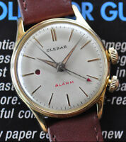 Super RARE Vintage Clebar Alarm Watch Runs Strong & Looks Great - Red Dot!