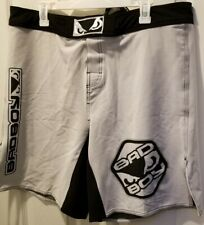 Bad Boy - Pro Series Fight Shorts - Men's XL (36-37) - Black/White