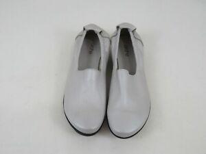Arche Ballet Flats Gray Pebble Leather Shoes Womens Size EU 39 US 8