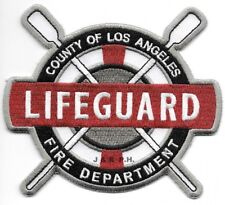 "Los Angeles Co.  LIFEGUARD, California  (4.5"" x 4"" size) fire patch"
