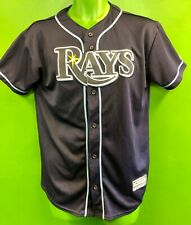 J876/250 MLB Tampa Bay Rays Majestic Blue Baseball Jersey Youth XL 18-20