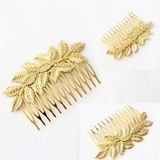 Women Hair Clips Hair Comb Hairpin Alloy Leaves Elegant Headband