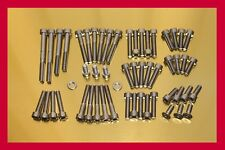 YAMAHA VIRAGO XV 920/81-83/Stainless Steel Bolt-Kit Screws Cover Moteur Engine