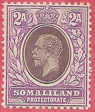 Somaliland 1919 Dull purple & violet purple sg 62a MH very light