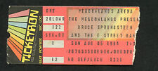 Original 1984 Bruce Springsteen concert ticket stub Born In The Usa Meadowlands