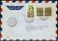 Vaticano 1945/55 Busta Viaggiata n. 109 + n. 199 (s122)