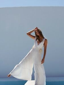 NWT FREE PEOPLE FP MOVEMENT Sz S SPRING FORWARD WIDE LEG ONE PIECE JUMPSUIT