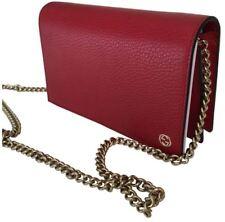 Gucci Bag Borsa Calf Chain Wallet Red Calfskin Leather Crossbody NEW NUOVO