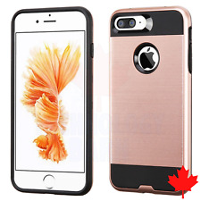 For iPhone 7 Plus & iPhone 8 - Plus Brushed Luxury 2 in 1 Hybrid Case Cover