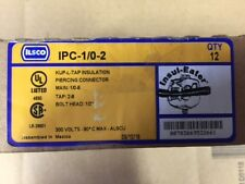NEW- BOX OF 12 - ILSCO - IPC-1/0-2  Insulated Piercing Connector
