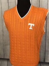 NWT JOE COLLEGE Men's NCAA Tennessee Volunteers Medium Orange Cable Knit Vest