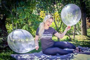 "5 x große Tuftex 17"" Luftballons in kristall-klar *crystal-clear*Tuf-Tex*"