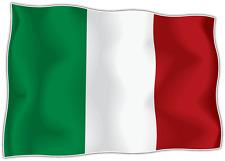 "Italy Country Flag Car Bumper Window Mirror Sticker Decal 5""X4"""