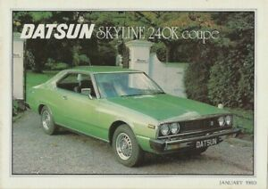 Datsun Nissan Skyline 240K GT Coupe 1980-81 UK Market Sales Brochure
