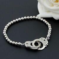 hommes la chaîne élastique des perles menotte bracelet valentine boucle lien