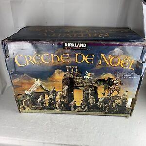 NICE Kirkland Creche Nativity Set 790605 Fountain Lights Elephant 1994 23 Piece