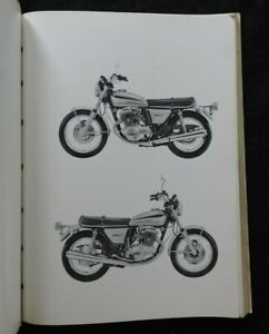 """1972 1973 YAMAHA """"750cc TX750"""" MOTORCYCLE PARTS CATALOG MANUAL NICE"""