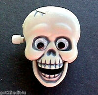 Hallmark PIN Halloween Vintage SKELETON SKULL Googly Eyes Holiday Brooch