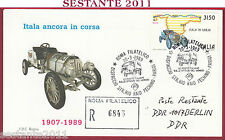 ITALIA FDC ROMA ITALA IN CORSA RAID PECHINO PARIGI  BERLINO 1989 FILATELICO U773