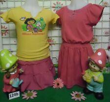 vêtements occasion fille 8 ans,robe DPAM,jupe,tee-shirt DORA