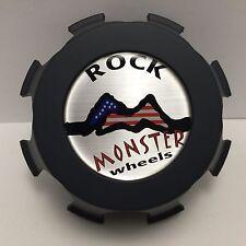 Rock Monster Wheels Flat Gray Center Cap P/N 70065 Custom Wheel Rim Hubcap
