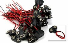 50 pcs 9V Battery Connector Snap Clip Wire Lead 9 Volt Holder NEW Set of 50