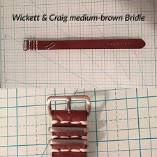 22mm Wickett&Craig Brown Bridle Leather military-style handmade Watch Strap Band