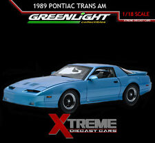 GREENLIGHT 12933 1:18 1987 PONTIAC TRANS AM GTA MEDIUM MAUI BLUE METALLIC