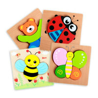 Wooden Animal Puzzles for Toddlers 1 2 3 Years Old Boys Girls Educational Toys