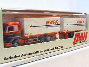 AWM 1/87 57151 Scania Wechselkofferhängerzug RWFK OVP (RR9334)