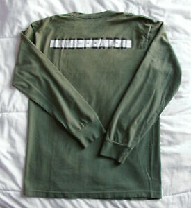 Men's Early 00s Undefeated Casual Military Green Longsleeve T-Shirt Size M - L