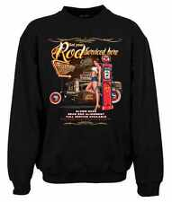 Biker Rockabilly Sweatshirt Hot Rod Service & Hot Girl, Gr: S bis 3XL, 5 Farben!