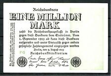 Germany Inflation 1 Million Mark 1923 Ro. 101a Hakensterne gebr. used