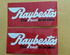 """2 pcs RAYBESTOS OFFICIAL THE BEST IN BRAKES RACING DECALS STICKERS size 8"""" X 4"""""""