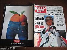 AUTOSPRINT 1976/34=REUTEMANN=REGAZZONI=PUBBLICITA' LEVI'S