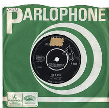 """Hollies - Yes I Will / Nobody 7"""" Single 1965"""